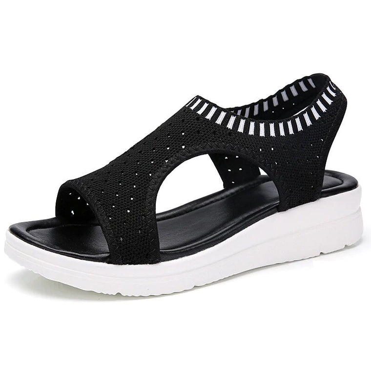 Women Comfortable Breathable Knit Sandals Beach Shoes