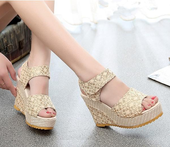 Womens Laced Fashion Wedges