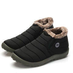 Mens Waterproof Warm Plush Lining Soft Sole Boots