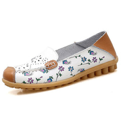 Women Leather Peas Shoes