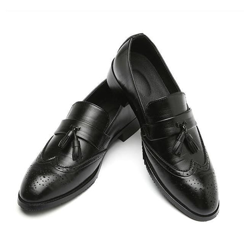 Men New Fashion Casual Tassels Leather Shoes