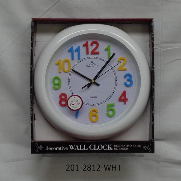 "12"" Colorful Wall Clock (6pc)"