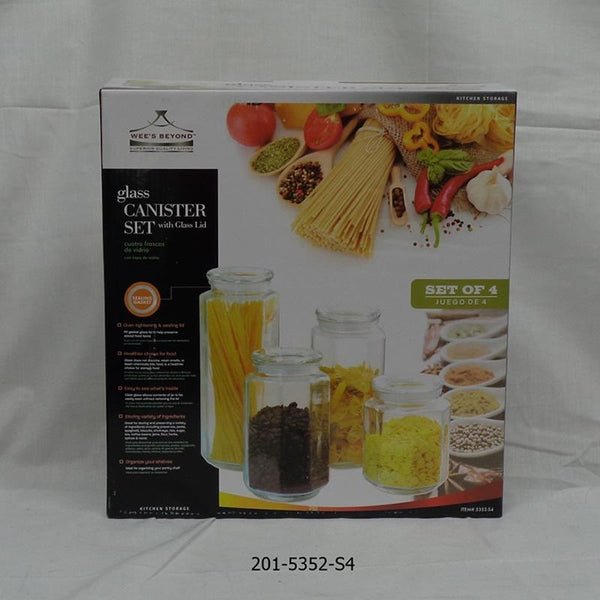 4pc Glass Canister Set (4pc)
