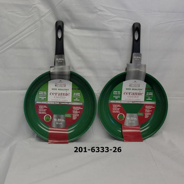"10.25"" Ceramic Fry Pan Green (12pc)"