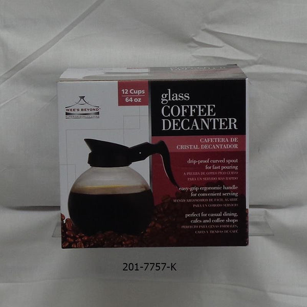12 Cup Glass Coffee Decanter (6pc)