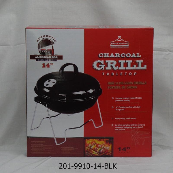"14"" Table Top BBQ Grill Black Cover (4pc)"