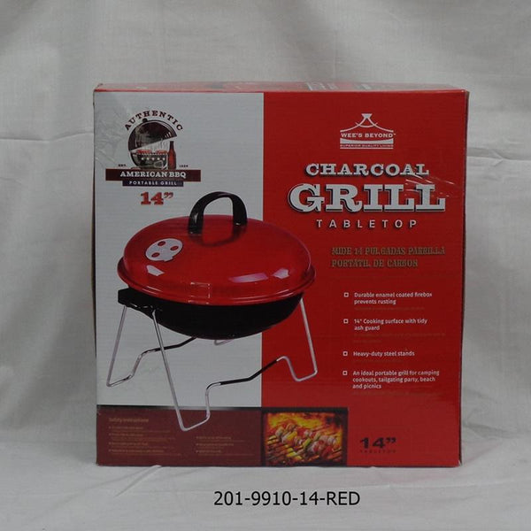 "14"" Table Top BBQ Grill Red Cover (4pc)"