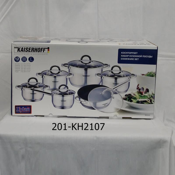 12pc Stainless Steel Cookware Set - Premium (2pc)