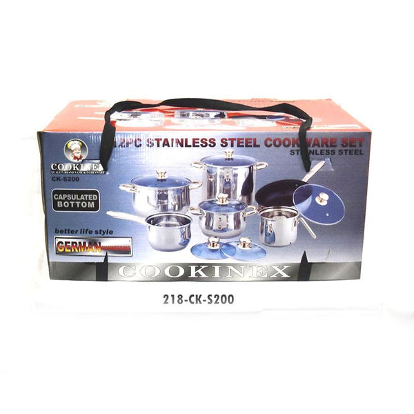 12pc S/S Cookware Set Capsulated Bottom (2pc)