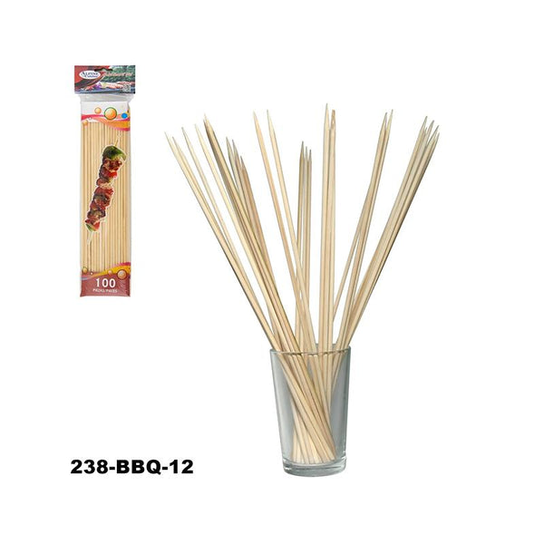 "12"" Bamboo BBQ Skewer 100ct (72pc)"