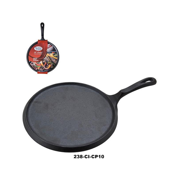 "10"" Cast Iron Comal (4pc)"