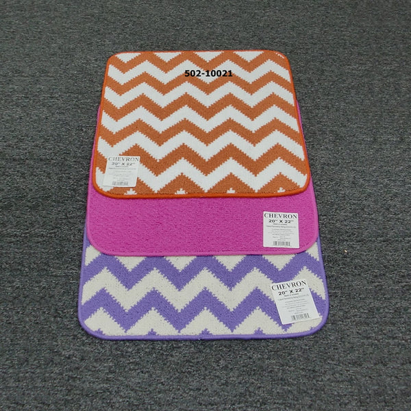 "20""x22"" Chevron Rubber Back Carpet Ass'd Colors (20pc) (10329)"