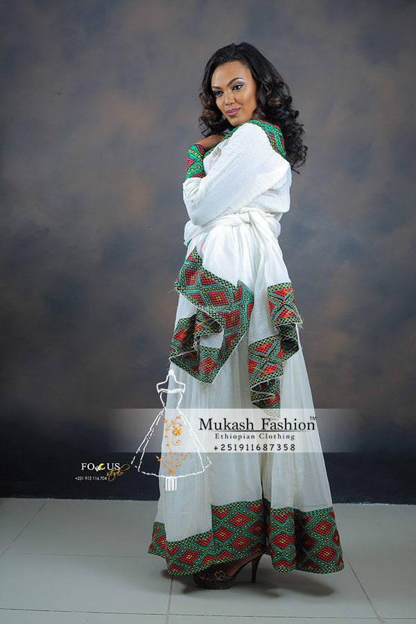 Lelte (ልዕልት) ethiopian tilf dress