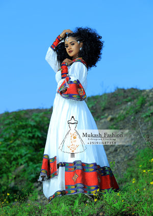 Burgundy Ethiopian ferte clothing