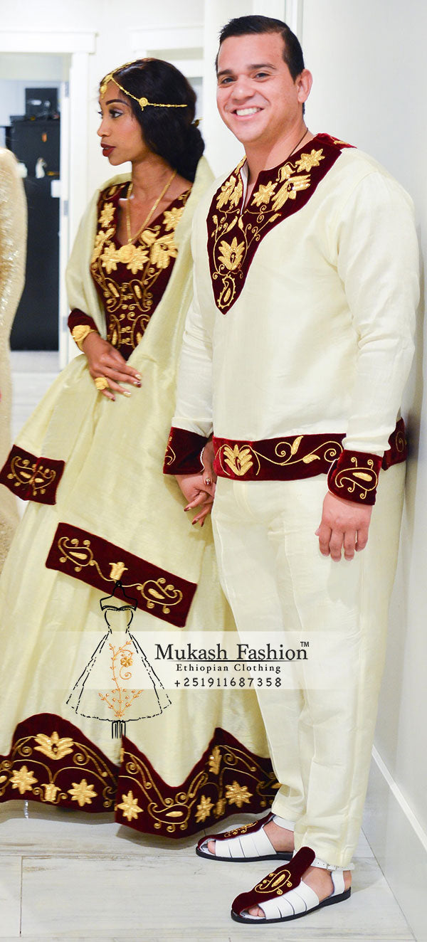 Burgundy mukash wedding package