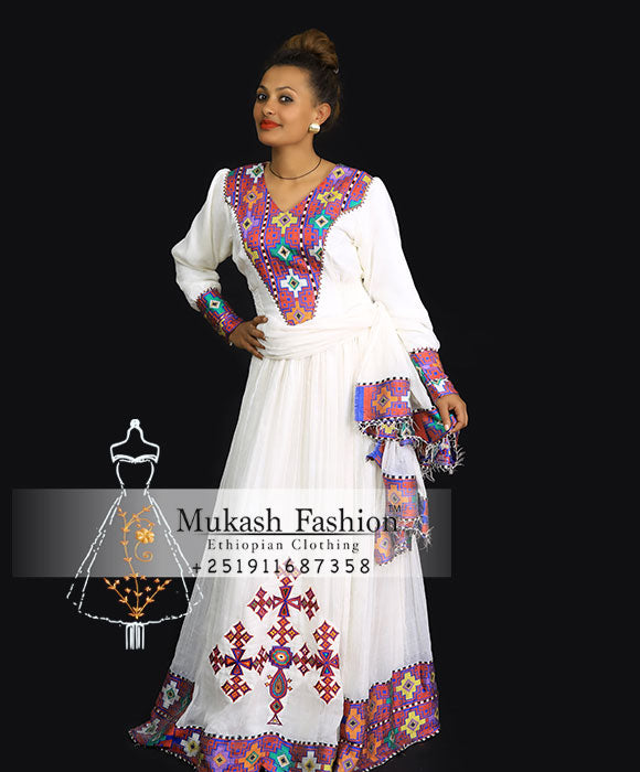Zenash cross tibeb dress