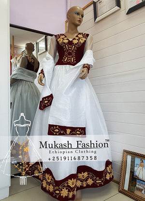 burgundy light mukash wedding package