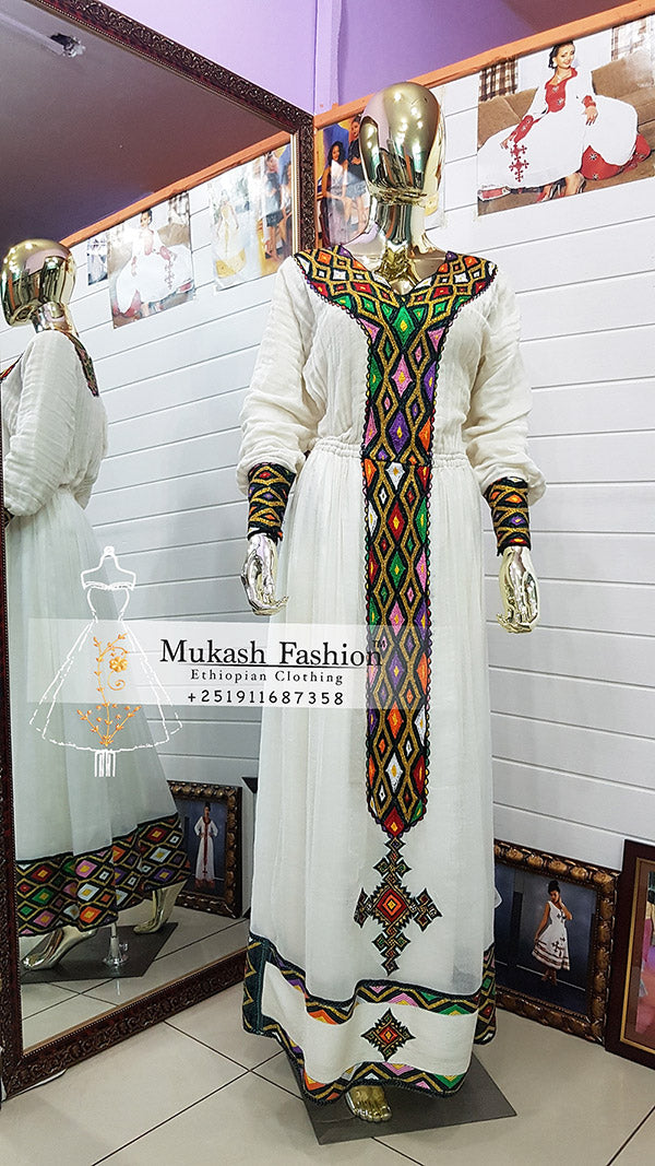 diamond tibeb habesha dress