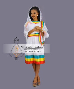 Ethiopian flag dress