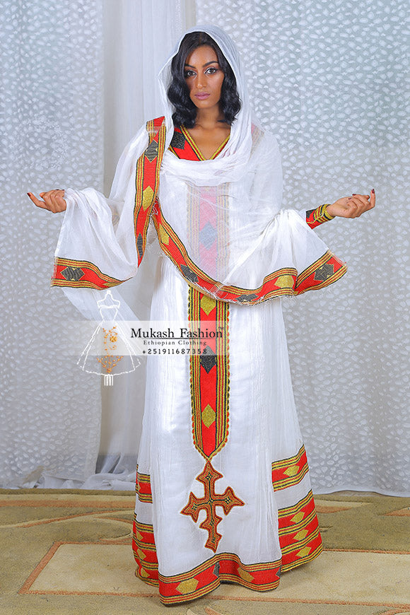 5f57bd0f71b Ethiopian traditional red tibeb – Mukash Fashion