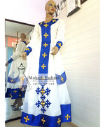 Golden mukash cross telf dress