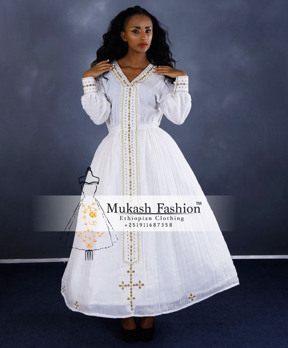 golden mukash wedding dress