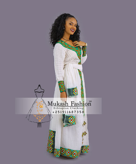 Habesha diamond tilf dress