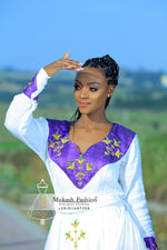 mukash flower habesha dress