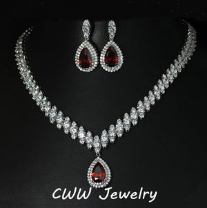 Luxury Crystal Bridal Jewelry Sets