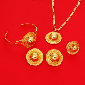 Ethnic Habesha Wedding Jewelry sets Gold Color