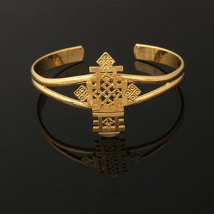 Unique Cross Bangle with Hollow-out Decoration