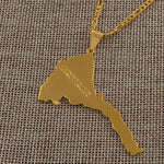 Eritrea Map Pendants