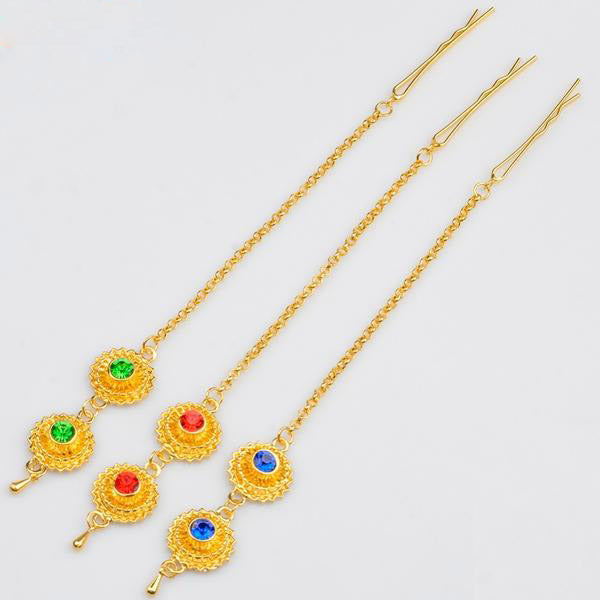 Ethiopian Forehead Chain Gold Color Hair Chain for Women