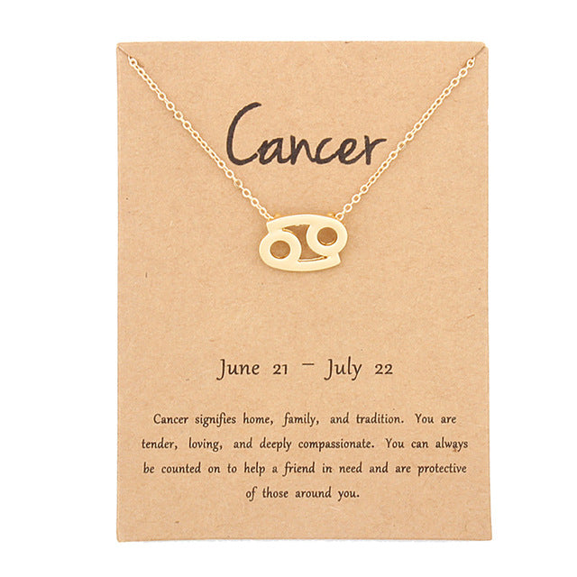 Zodiac Sign Best Necklace Birthday Gifts