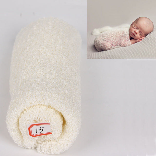 Soft Stretchy Swaddle Baby Wrap Newborn Photo Prop 18 Colors
