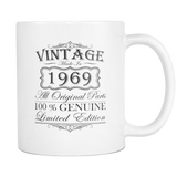 50th Birthday Mug - Vintage - Born in 1969 Coffee Mug Gift Idea