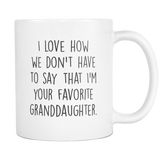 Favorite Granddaughter Coffee Mug