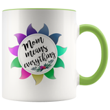 Mom Means Everything Accent Mug