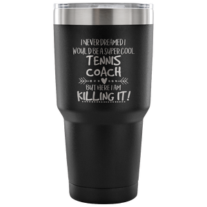 Tennis Coach Travel Coffee Mug