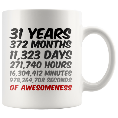 31 Years Birthday or Anniversary Mug