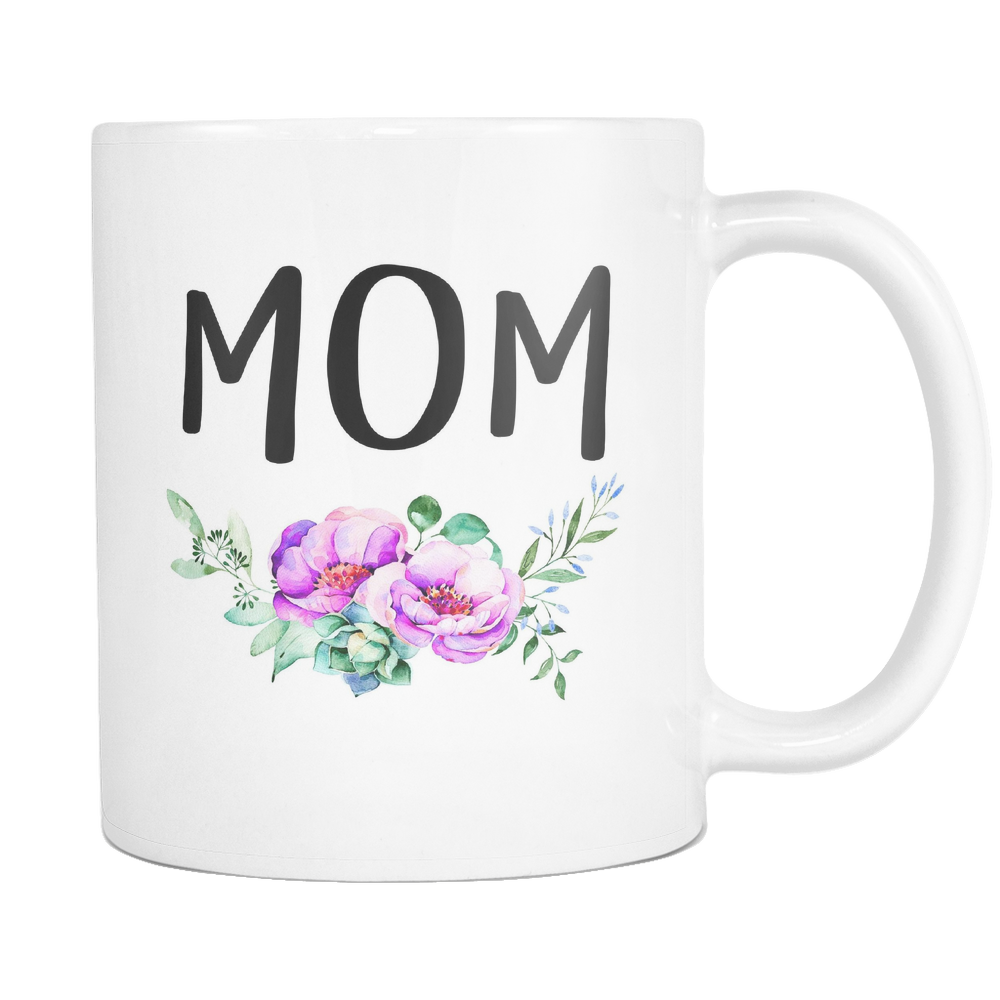 Mom Mug - Purple Flowers