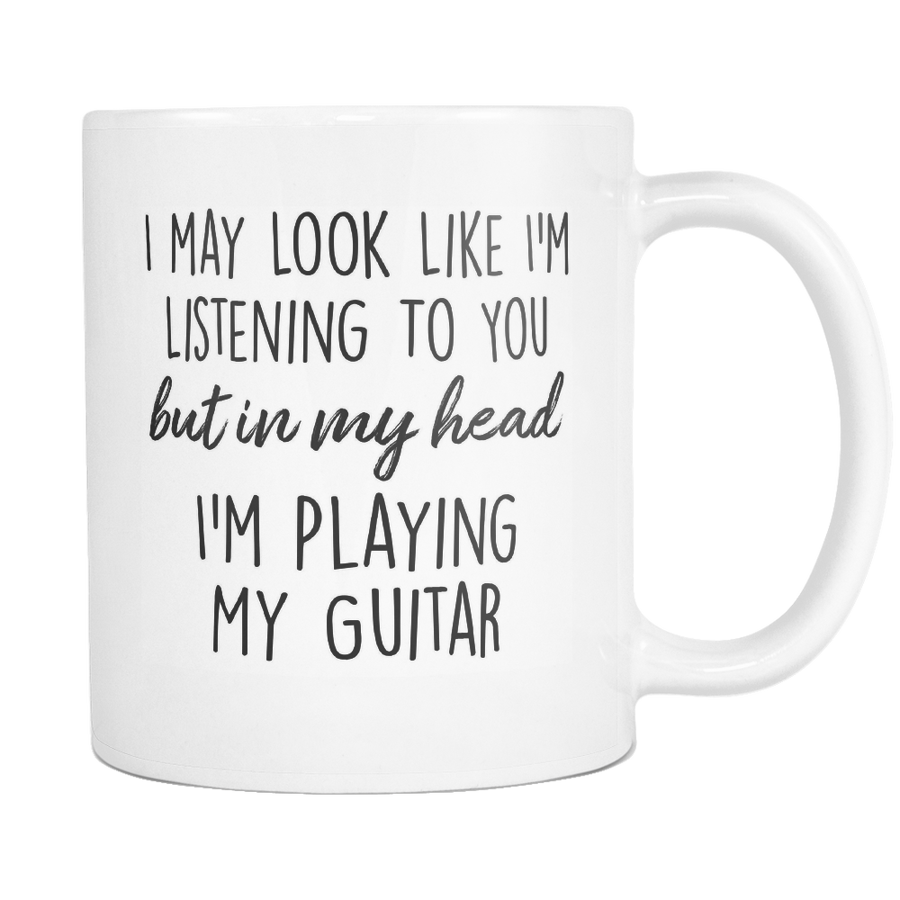 In My Head I'm Playing My Guitar Mug