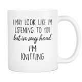 In My Head I'm Knitting Mug