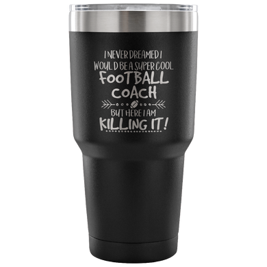 Football Coach Tumbler with Ball