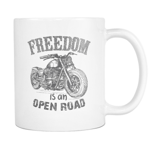 Freedom Is An Open Road  - Motorbike Coffee Mugs