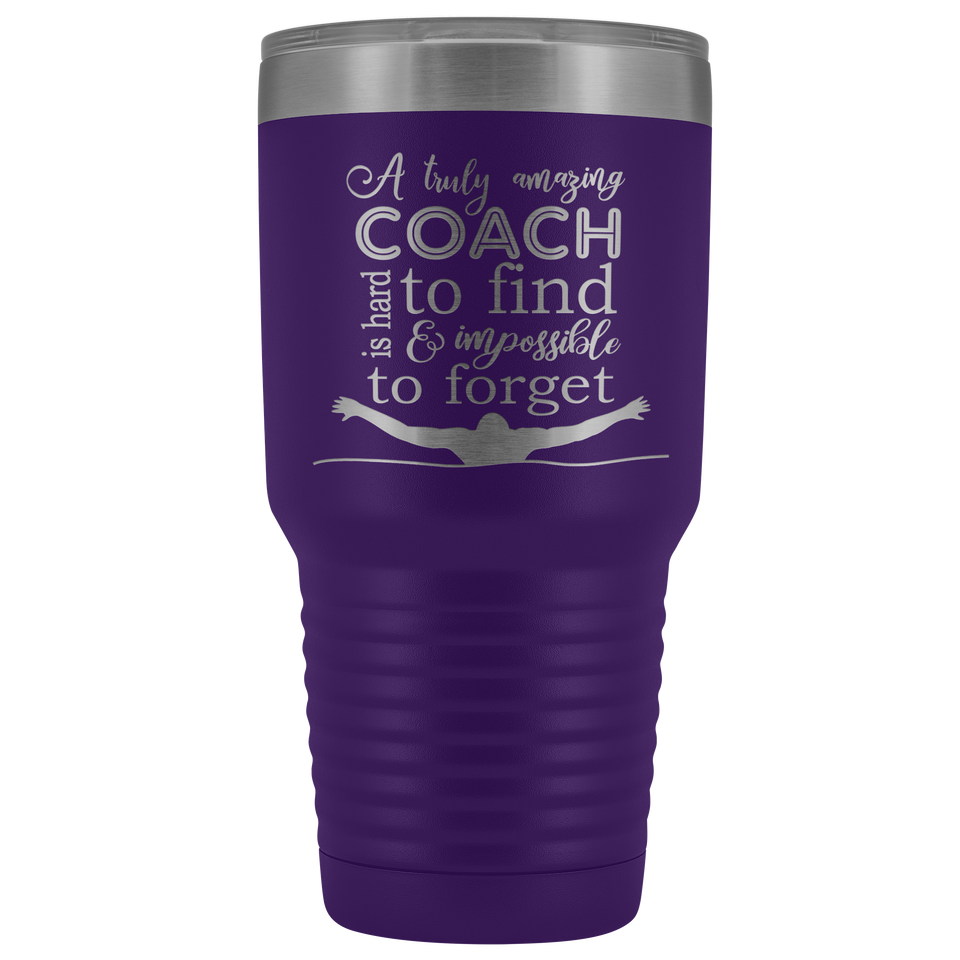 A Truly Amazing Coach Is Hard To Find Swimming Coach Travel Mug