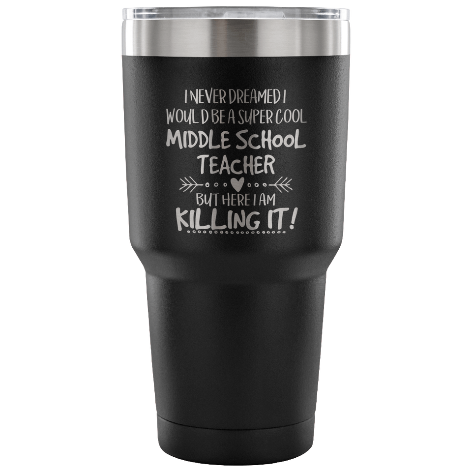 Middle School Teacher Travel Coffee Mug