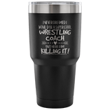 Wrestling Coach Travel Coffee Mug