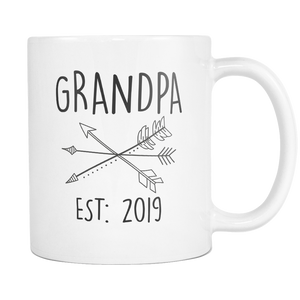 Grandpa 2019 Set with Arrows Coffee Mug