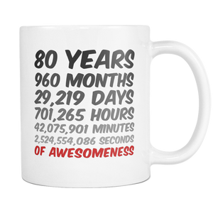 80 Years of Awesomeness Coffee Mug